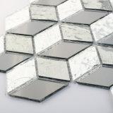 Azulejo de mosaico del vidrio cristalino de la dimensión de una variable del diamante de la decoración del suelo del cuarto de baño
