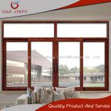 Ventana de desplazamiento de cristal de aluminio de alta calidad para el edificio comercial y residencial