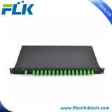 1u divisor ótico do PLC da caixa da fibra Rack-Mount de 19 polegadas para FTTH
