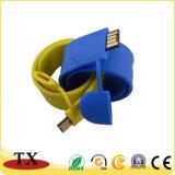 금속과 플라스틱 USB 드라이브와 USB