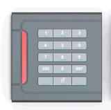 Leitor do smart card do leitor do controle de acesso RFID do teclado para o sistema de segurança