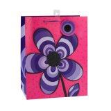 Bolsa de papel revestida del regalo del arte azul de la manera del modelo de Rose