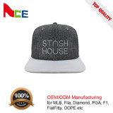 Grande 3D de alta qualidade da marca Bordados Snapback Tampa Hip-Hop Simples