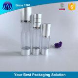 Embalagem cosméticos Creme de prata dourada frasco vazio de 15ml, 30ml 50ml