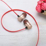 Cuffia avricolare di Bluetooth di sport del metallo dell'oro della Rosa con adsorbimento magnetico