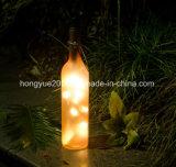 Muestra gratis de alta calidad de la Navidad Botella de vino de cristal de luz para la decoración de Navidad
