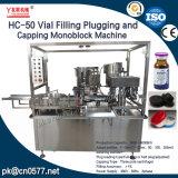 O enchimento do frasco de entupimento e nivelamento da máquina monobloco para garrafa de vidro (HC-50)