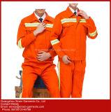 A fábrica Hi Vis Vestuário de protecção de algodão fato-macaco de segurança para os homens (W419)