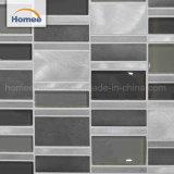 Mélange aluminium de haute qualité brillante Mosaïque de verre noir carrelage mural
