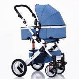 Paisagem elevada e carrinho de criança Foldable 3 do Pram do bebê em 1