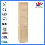 Interner Eichen-Bifold hölzerner Blendenverschluss-weiße hölzerne Vorhang-Tür