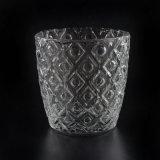De populaire Houder van de Kaars van het Glas met Verschillend In reliëf gemaakt Patroon