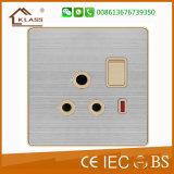 Soquete 1gang e 13A do soquete do interruptor da parede de Bangladesh