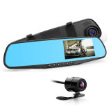 2018 Cámara DVR coche espejo retrovisor Auto doble lente DVR Grabador Registrator Dash Cam Video videocámara Full HD 1080P DVR sensor G