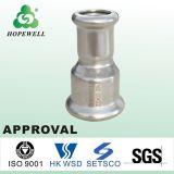 A qualidade superior da tubulação de aço inoxidável Sanitário Inox 304 316 Pressione o conector de canto da Conexão do Tubo de água macia da Luva de rosca
