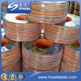 Mangueira de jardim flexível trançada reforçada fibra da água do PVC