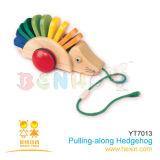 Les jouets en bois - en tirant le long de Hedgehog (YT7013)
