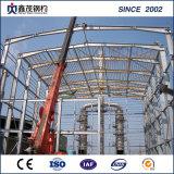 Fasten zusammengebautes fabriziertes Stahlkonstruktion-Gebäude mit Kran