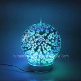 Diffusore di vetro essenziale elettrico portatile ultrasonico dell'aroma della stella 3D dell'olio della decorazione domestica con foschia fredda