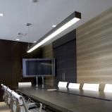선형 빛 사무실 빛을 거는 실내 점화 LED를 위한 알루미늄 단면도 LED 선형 중계 조명 시설 LED 선형 빛 LED 관 빛