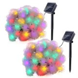 Schneeball-angeschaltene Solarzeichenkette beleuchtet 28.5FT 50 feenhafte Chuzzle Kugel-im Freienlicht-dekorative Beleuchtung die LED-für Garten, Haus, Patio, Rasen, Partei und Feiertag