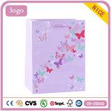 美しい蝶ピンクの子供の芸術のギフトの紙袋