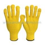 Gants jaunes de Knit de Ktring de mélange de polymère