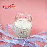 Candela di vetro del vaso per la piccola candela e la candela bianca in profumato