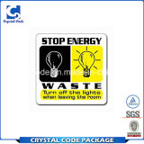 Professionnels de conception et l'étiquette de l'enregistrement d'énergie fiable autocollant