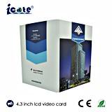Heißer Verkauf! 4.3 Zoll LCD-Bildschirm-videobroschüre mit Qualität