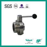 Válvula de borboleta sanitária Sfx051 da linha do aço inoxidável