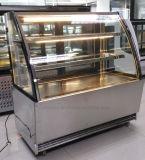 El estilo americano Multi-Deck Pasrty Mostrar expositor refrigerado para tartas refrigerador con dos estantes