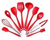 На заводе силиконовые ручки нейлоновые красочные Kitchenwares инструменты для приготовления пищи с пазами