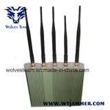 リモート・コントロール5本のアンテナ携帯電話Jammer+ (3G、GSM、CDMA、DCS)