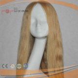 High_Класса силиконового герметика человеческого волоса кружева Wig (PPG-l-0827)