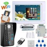 """7"""" TFT проводные и беспроводные WiFi пароль RFID видео звонок двери камеры с помощью электрического удара блокировки"""