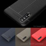 Lychee Huawei P20를 위한 가죽 패턴 TPU 케이스