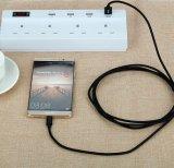 Câble de remplissage de chargeur de caractéristiques du câble V9 USB de vente directe d'usine pour l'androïde