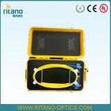 Caixa do cabo do lançamento do amarelo OTDR do exemplo plástico de China