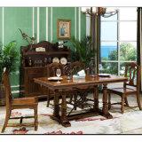 La mode Home Meubles Meubles en bois massif longue table à manger (comme l835)