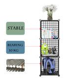 6 cubos de ahorro de espacio en la pared la chapa metálica para rack de la revista portátil