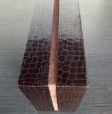 Boîte faite sur commande à vin de papier de Leatherette pour un empaquetage de bouteille