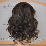 El cabello virgen mano atada Mono arriba PU peluca (PPG-L-0967)