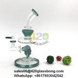 Spitzenglasbohrinseln/Waterpipe/Rohr für das Rauchen mit dem Schädel Perc