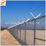 Galvanized/PVCによって塗られる庭の塀またはダイヤモンドの金網の塀