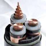 6/10kv isolation XLPE ou conducteur en cuivre aluminium Câble à 3 conducteurs
