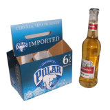브라운 종이 상자 맥주 병 운반대