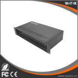 シャーシシステム16スロット2Uラック取付け可能な倍AC220V pwrの供給のカード読取穿孔装置