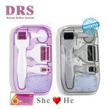 Wit Handvat 6 van de Rol van Derma van het nieuwe Product in 1 Gebruik van de Uitrusting Dermaroller voor Gezicht, Ogen en Lichaamsverzorging