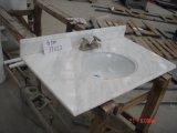 De aangepaste Bovenkanten van de Ijdelheid van de Badkamers van de Goede Kwaliteit Witte Marmeren